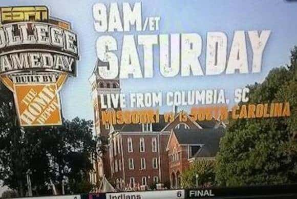 ESPN Uses Clemson's Campus To Promote South Carolina College GameDay Show