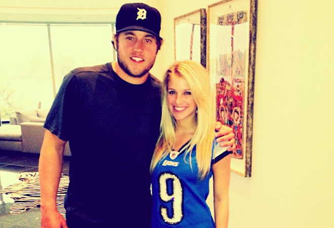 matthew stafford girlfriend tweet