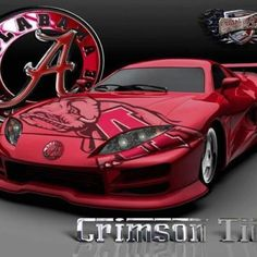 alabama crimson tide car