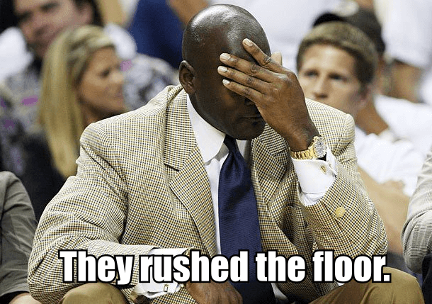 Twitter laughs at UNC fans rushing court after Duke win