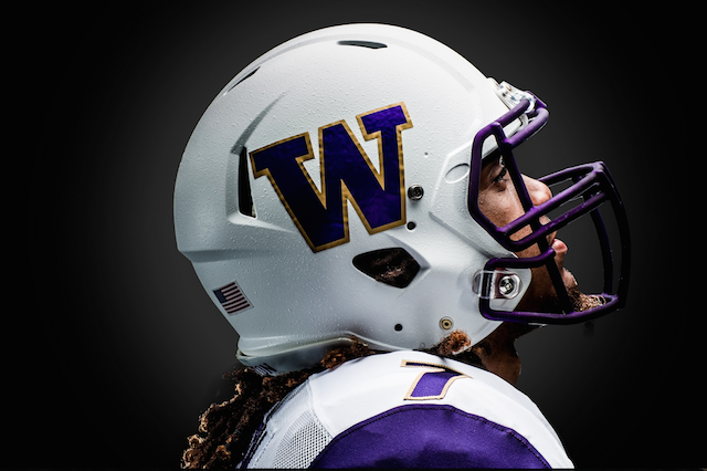 washington huskies white helmets