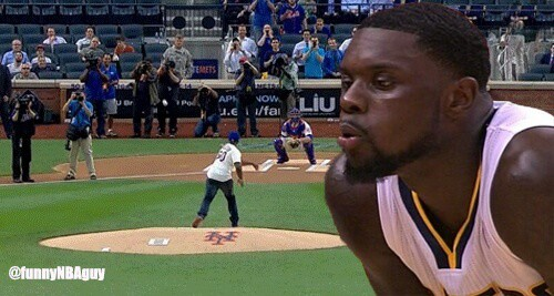 Lance Stephenson Blowing 50 Cent's Pitch Photoshop Is Perfection