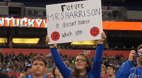 Kentucky Fan Not Picky About Which Harrison Twin She'll Marry