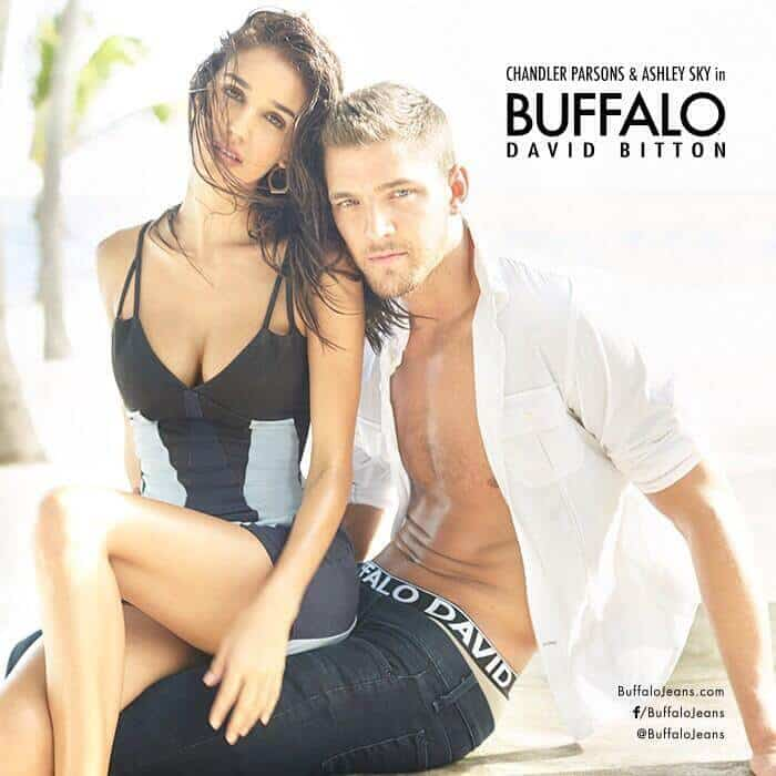 Chandler Parsons and Ashley Sky's new Buffalo Jeans modeling campaign