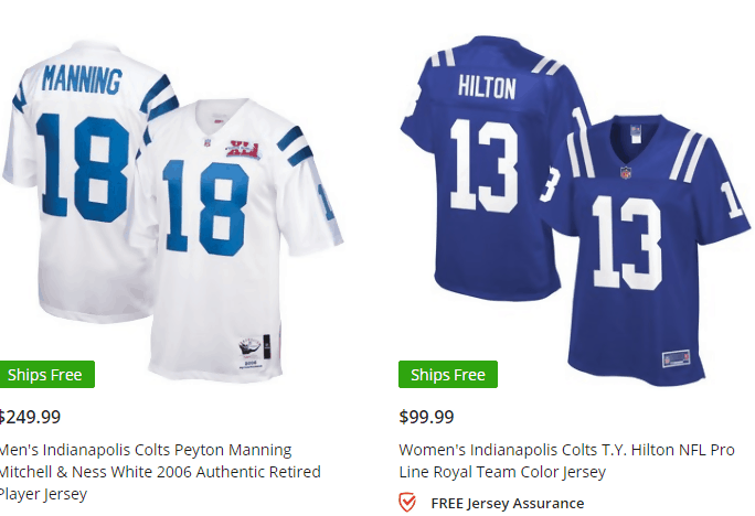 287c5a991e9 ... you to choose if you want to order for a male or female NFL jersey,  they also have jerseys for kids as well if you'd like to order for your  child.